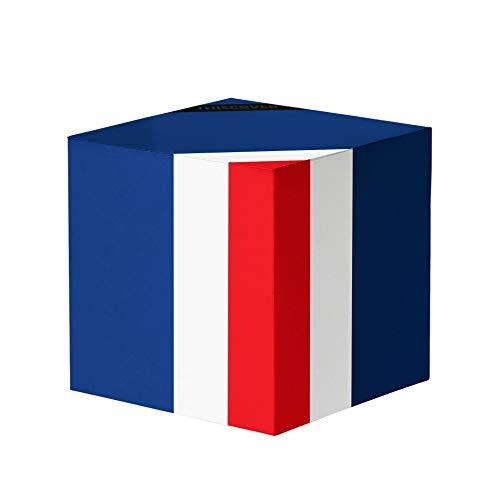 THISCOVER Puf con diseño de la bandera de Francia