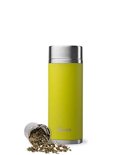 QWETCH Thermoskanne, Edelstahl, Anisgrün, 400 ml