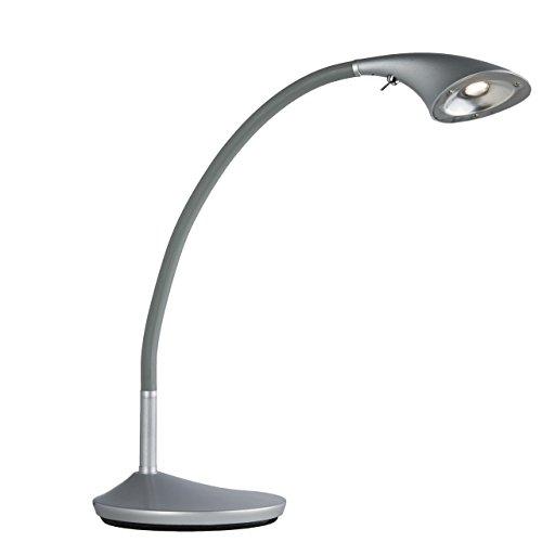 MW-Light 631040101 Lampada da Pavimento Flessibile Moderna di Metallo Colore Argento Industriale Tecno contemporanea 1 x 6.5W LED
