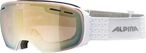 ALPINA Unisex - Erwachsene, GRANBY QVM Skibrille, white, One size