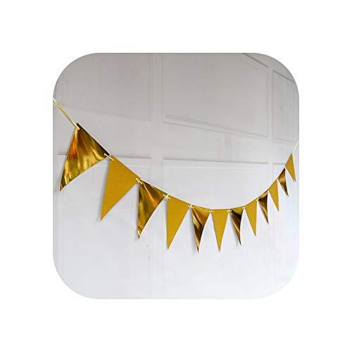 Fiesta Colgante Banner De Cumpleaños Letrero Dorado para Fiesta De Cumpleaños, Banderines, Banderines, Suministros para Fiestas, Conjunto para Niñas, Pancarta para Fiesta De Cumpleaños con Juego, Fi