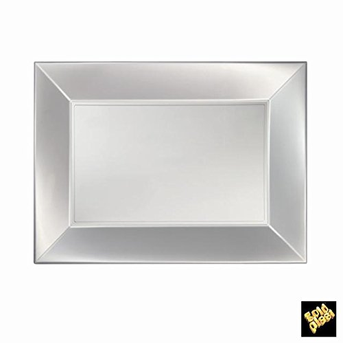 Nice Assiettes Plastique Rectangulaires Petits PP 280 X 190 mm Perlés cfz 1 É Bianco Perlè