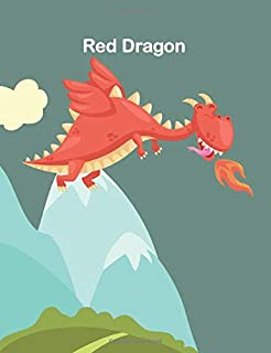 Red Dragon: Red Dragon Marble Composition Notebook, Wide Ruled , for boys and girls, kids, students and teachers (Your Own...