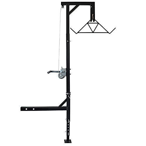 Highwild Truck Hitch Game Hoist & Gambrel - 500lbs with 360 Degree Swivel - Complete Hoist Kit (Included Winch/Gambrel)