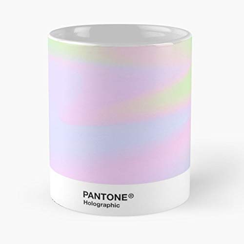 92Wear Holographic Irisdescent Aesthetic Background Pantone Color Tumblr Vaporwave Cool Teen Cute Pinterest - Best 11 oz Taza De Café - Taza De Motivos De Café