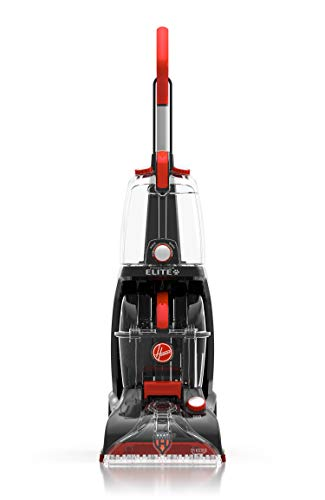 Hoover FH50251PC Power Scrub Elite Pet Upright Carpet Cleaner and Shampooer, Lightweight Machine, Red