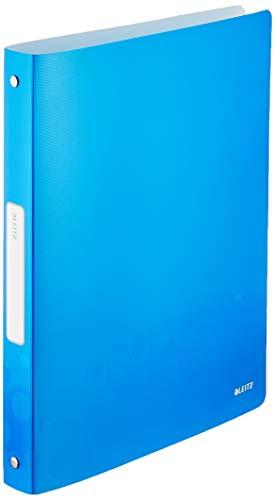 Leitz 42580036 Ringbuch WOW, A4, PP, 4 Ringe, 25 mm, blau metallic