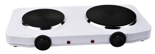 TKG DKP 1000 KALORIK Plaque de cuisson double Blanc 2500 W