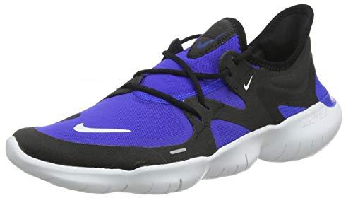 Nike Men Free Rn 5.0 Racer Blue/White/Black Running Shoes-9 UK (44 EU) (10 US) (AQ1289-402)
