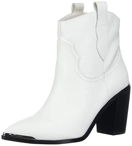 Steve Madden Women's ZORA Fashion Boot, White Leather, 7.5 M US
