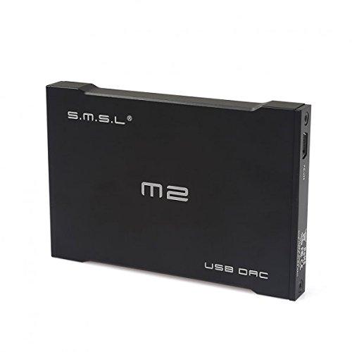 SMSL SMSL M2 Portable Headphone Amplifier External DAC Decoder Sound Card (Black)