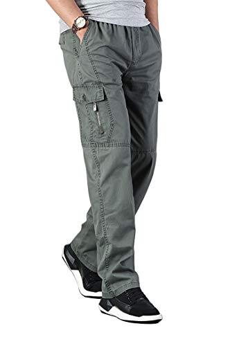 Banana Bucket Men's Full Elastic Waist Loose Fit Lightweight Workwear Pull On Cargo Pants