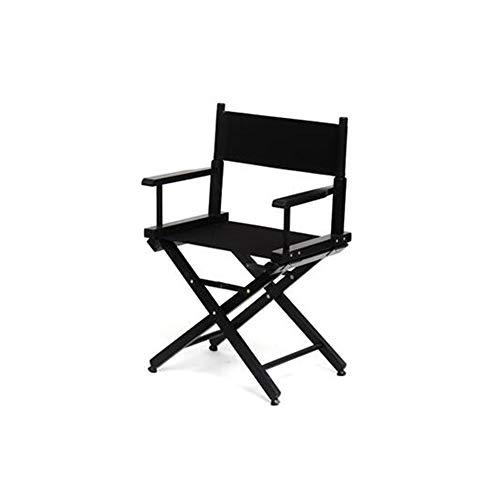 YQQ Chaise De Salle À Manger Chaise Pliante Chaise De Pêche Tabouret Portable Tabouret De Maquillage Coiffeuse Chaise du Directeur (Couleur : Noir, Taille : High54cm)
