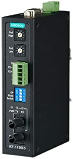 Industrial RS-232/422/485 to Fiber Optic Converter, ST Single mode, with 2kV 2-way Galvanic Isolation, -40 to 85 ℃