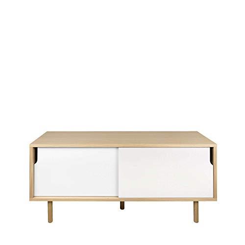ikarus Alvito Sideboard 135 x 45 cm, h 65 cm - Eiche/weiß