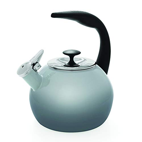 Chantal 37 OM FG Heath Teakettle Enamel-On-Steel, 2-Quart, Fade Grey