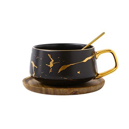 KHKJF Kondensierter Kaffee Keramik Tasse Untertasse Anzug Katzenkot Kaffeetassen Nachmittagstee Tasse Kleine Kaffeetasse Mit Geschirrlöffel Set