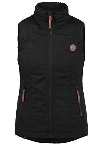 DESIRES Tilia Damen Weste Outdoor-Weste Mit Warmem Stehkragen, Größe:M, Farbe:Black (9000)