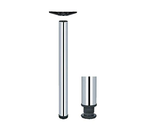 Adjustable Breakfast Bar Worktop Support Table Leg 710, 820, 1100 (Polished Chrome, 820 mm) by GTV