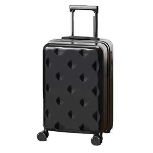 Men Women Suitcases, High Value Internet Celebrity Student Suitcases, Universal Wheel Trolley Luggage Suitcases, TSA Password Lock PC Material(Size: 26 inches,Color:black)