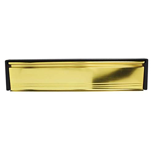 Briefkasten/Briefschlitz für uPVC-Türen - Frontpanele in Goldfarben PVD-beschichtet (Messing glänzend) - 20-40 mm Türtiefe - 30,48 cm breit