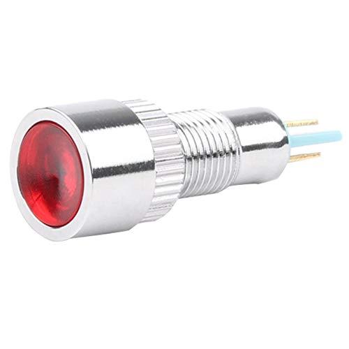 YUANJING-PHONE CASE Durable 8mm Plana Plano Cabeza Cabeza indicador de Metal luz 8mm lámpara de señal Impermeable 6V 12V 24V 220V Rojo Amarillo Azul Verde Blanco (Color : Green, Size : Big Face)