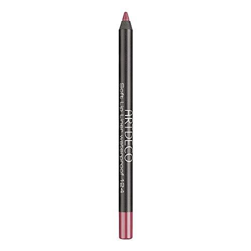 ARTDECO Soft Lipliner Waterproof, wasserfester Lippenkonturenstift rosa, pink, Nr. 124, precise rosewood