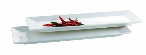 Mäser, Serie Trendy Line, Teller rechteckig 32 x 11 cm, im 2er-Set