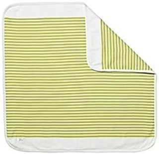 Serena and Lily Sprout Green Nautical Stripe Organic Cotton Stroller Blanket