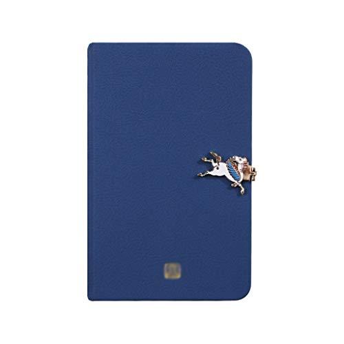 Blocs y Cuadernos de Notas Cuaderno de Hebilla Diario de Superficie de Cuero de Alta Gama for Hombres y Mujeres de la Oficina increíble Blocs y Cuadernos de Notas (Color : Blue)
