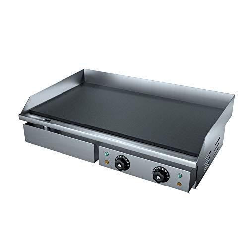 Plancha eléctrica Inoxidable Acero Comercial Mostrador Parte Superior Caliente Plato Cocina Interior...