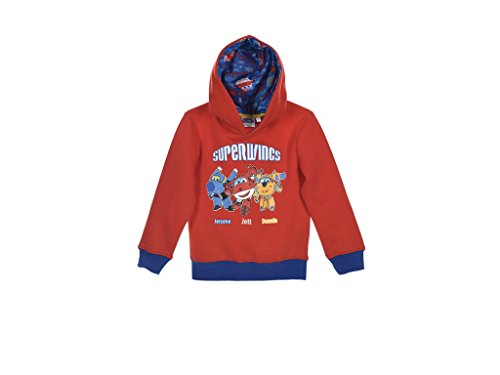 Super Wings Sweatjacke (116 - ca. 5-6 Jahre, Rot)