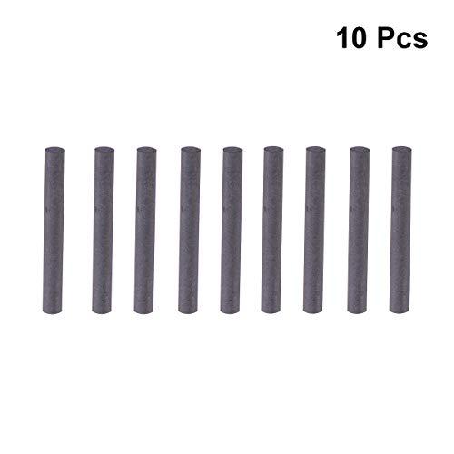 UKCOCO 10 stücke 8mm Durchmesser Graphitstab Kohlenstoffstab Elektrode Zylinderrohr Bar (Schwarz)