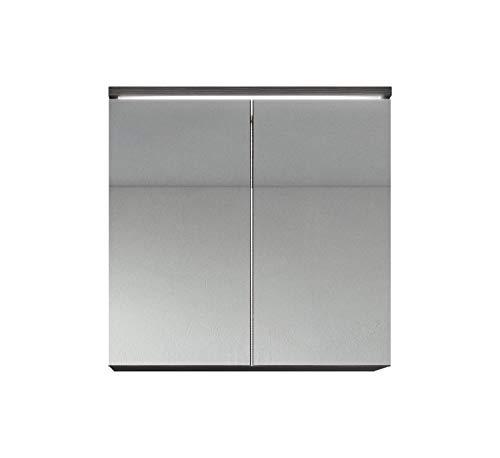 Badezimmer Spiegelschrank Toledo 60 cm – Stauraum Unterschrank Möbel Zwei Türen Weiß Schwarz Sonoma Eiche hell Lefkas Bodega (Bodega)