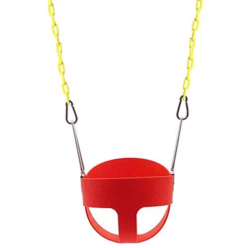 FYRMMD Asiento de Columpio para niños Juego de Columpio para niños para jardín con Cadenas revestidas de plástico con Respaldo, Juego de Columpio para Uso Seguro de niños
