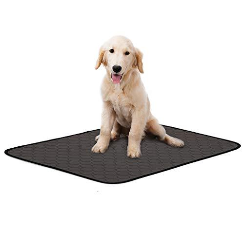 LINGSFIRE - Alfombrilla impermeable para perro, lavable y reutilizable, 4 capas, con parte inferior antideslizante para perros, interior y exterior, coche, 50 x 70 cm, color gris oscuro (1 unidad)