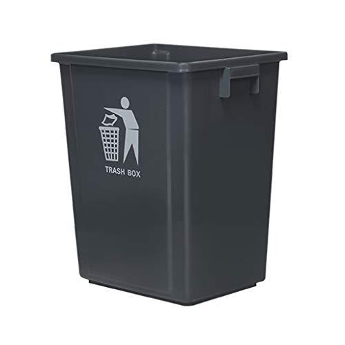 KJZ Zonder Cover Prullenbak, Outdoor Met Cover Plastic Vierkante Buis Outdoor Sanitatie Prullenbak Schoonmaak Box Huishoudelijke Grote Prullenbak 15-100L Vuilnisbak verzamelen apparaat