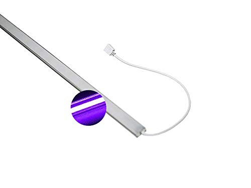 Ogeled superljus Highpower UV LED aluminiumlist 140 x led 15 watt flexibel självhäftande 24 V antibakteriell