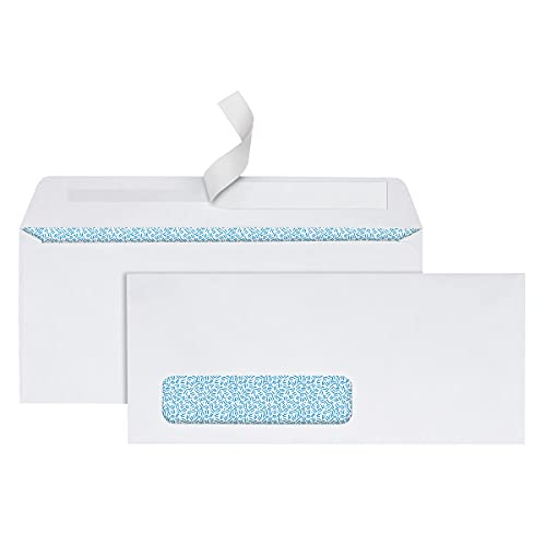 Office Depot Clean Seal(TM) Security Window Envelopes, 10 (4 1/8in. x 9 1/2in.), White, Pack of 250, 77292