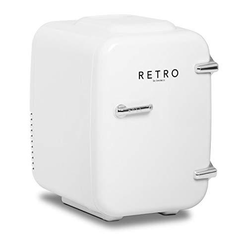 bredeco BCMF-4L-W Mini Kühlschrank Minikühlschrank Tischkühlschrank Kühlschrank Mini Retro Kühlschrank klein Kleinkühlschrank Mini Kühlschrank retro 4 L weiß