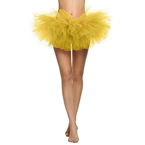 YIY Tutu Adult Ballet Rok - Vijf lagen Rok Stretchy Tule Jurk - Perfect Performance Costume