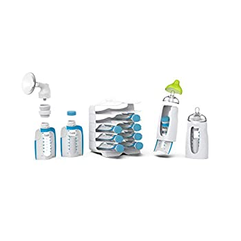 Kiinde Twist Universal Direct-Pump Feeding System Starter Kit for Leak-Free and Transfer-Free Breastmilk Collection Freezing Heating and Feeding New Mom Gift