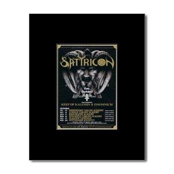 SATYRICON - UK Tour 2006 Matted Mini Poster - 13.5x10cm