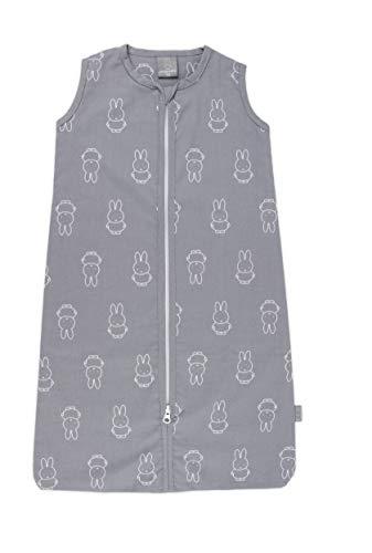 Miffy zomerslaapzak met ritssluiting, 90 cm. Kleur: grijs.
