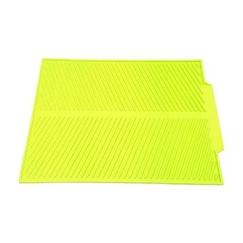 Alfombrilla de secado de silicona para platos de cocina grande, flexible, resistente al calor, almohadilla de encimera para platos, organizador de vajilla de silicona