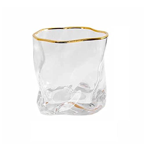 HMGANG Copas de Vino Casa de Lujo Vidrio Barra de Vidrio Transparente Phnom penh Whisky Vidrio Cristal Barra japonés Vidrio Cerveza Blass Net Rojo Taza (Color : T1)