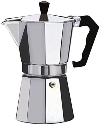 ZFQZKK Ekspres do kawy Aluminiowa Mokka Espresso Perkolator Garnek Coffee Maker Moka Pot Espresso Shot Maker Espresso Machine mini ekspres do kawy (Color : Silver, Size : 50ml)
