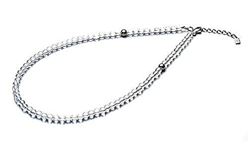 ファイテン(phiten) ネックレス 水晶ネックレス(5mm) 50cm(+5cmアジャスター)
