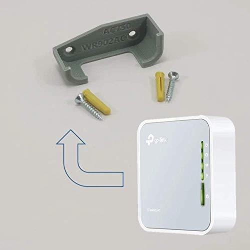 TP Link AC750 draadloze reisrouter WR902AC wandsteun onder bureau houder 3D TPL WR02AC GREY