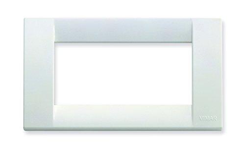 VIMAR 16744.01 Idea Placca Classica 4 Moduli in tecnopolimero, Bianco Brillante